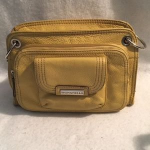Tiganello leather yellow Purse 👜